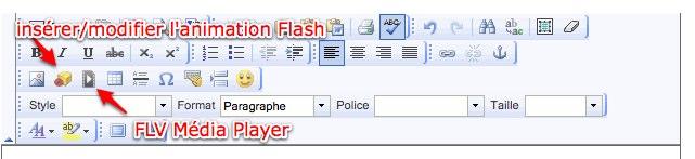 Icône Flash et Média Player