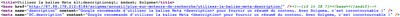 Le code source de la balise Meta <description> dans Solgema