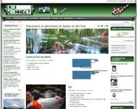 Une vue du site www.koiconnet.com qui utilise le module de vente en ligne de Solgema