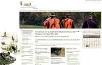 Vue du site de la fédération départementale des chasseurs du Haut-Rhin