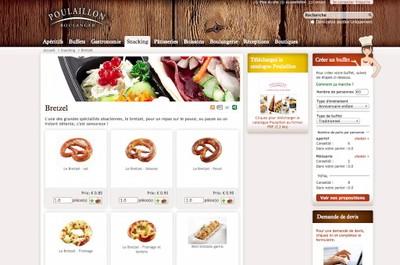 Avec le site Poulaillon, Solgema démontre qu'il peut très bien servir les traiteurs.