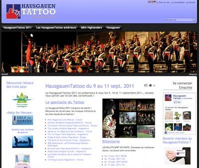 Une image de la page d'accueil du site www.hausgauentattoo.fr