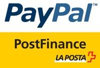 Logo PayPal et PostFinance